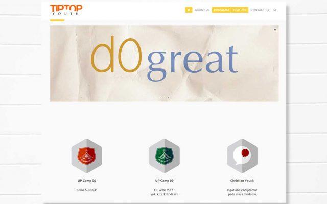 Tiptop Youth   Portofolio Pembuatan Website Buatweb Agency